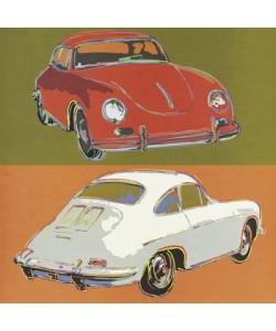 Leinwandbild, Rod Neer, Porsche 356 squared