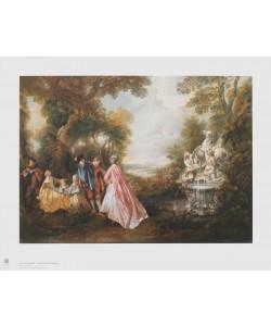Nicolas Lancret, Tanz an der Fontaine - am Brunnen