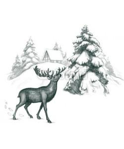 okalinichenko, winter deer