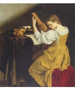 Orazio Gentileschi, Die Lauten-Spielerin