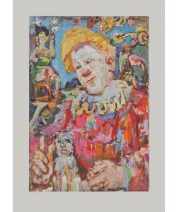 Oskar Kokoschka, Clown mit einem Hund