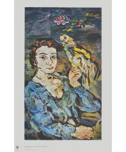 Oskar Kokoschka, Dame mit Papagei