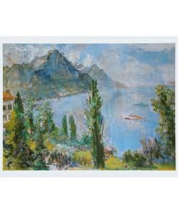 Oskar Kokoschka, Genfer See - 1959