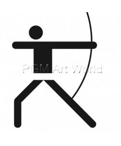Otl Aicher, Bogenschießen