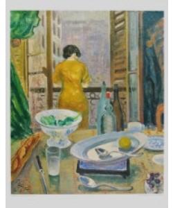 Otto Laible, Frau am Fenster (Kupfertiefdruck)