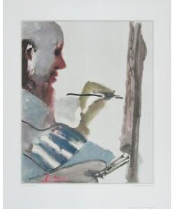 Pablo Picasso, Der Maler bei der Arbeit