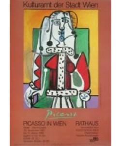 Pablo Picasso, Frau en face im grünen Lehnstuhl
