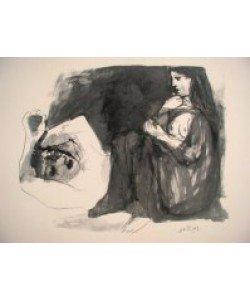 Pablo Picasso, Frau und schlafender Mann