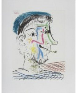 Pablo Picasso, Mann mit Zigarette (Büttenpapier)