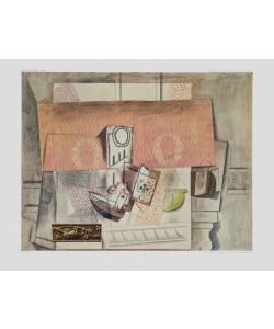 Pablo Picasso, Stilleben mit roter Tapete