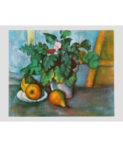 Paul Cézanne, Blumen und Birnen