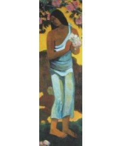 Paul Gauguin, Tahitianerin mit Blüten (Detail)