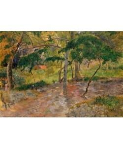 Paul Gauguin, Tropische Landschaft auf Martini