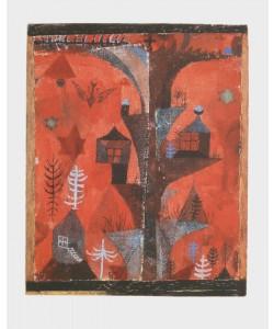 Paul Klee, Der Häuserbaum (Granolitho-Druck)