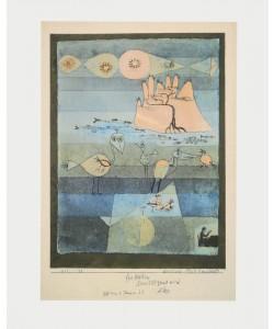 Paul Klee, Exotische Flusslandschaft (Granolitho-Druck)