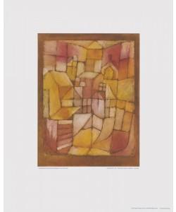 Paul Klee, Fenster und Dächer - Rosa-Gelb