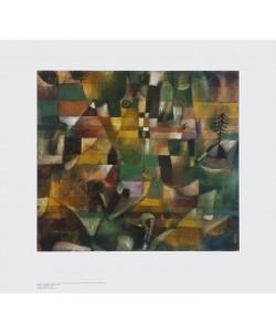 Paul Klee, Landschaft mit gelbem Kirchturm