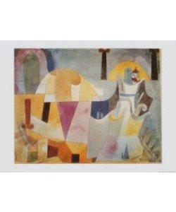 Paul Klee, Landschaft mit schwarzen Säulen, 1919