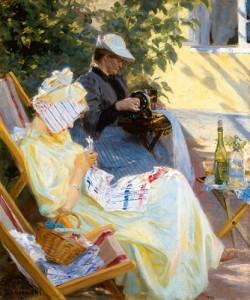 Peder Severin Kroyer, Zwei Frauen im Garten