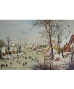Pieter Brueghel der Ältere, Winterlandschaft mit Vogelfalle, 1601