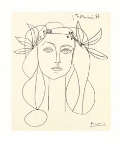 Pablo Picasso, Nur noch wenige Exemplare, Siebdruck auf Büttenpapier: Head of a Woman, Preis auf Anfrage