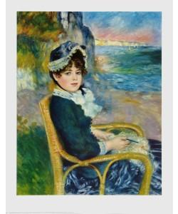 Pierre-Auguste Renoir, Dame im Rattanstuhl vor der Steilküste