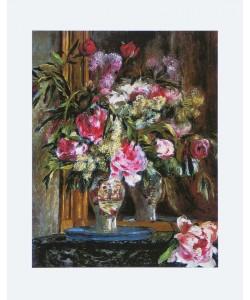 Pierre-Auguste Renoir, Vase mit Blumenstrauß - 1871