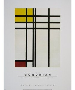Piet Mondrian, Opposition of Lines: Red and Yellow, 1937