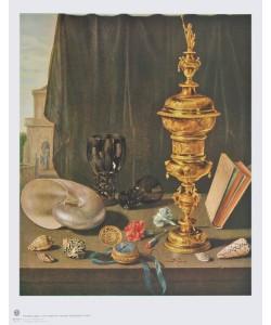 Pieter Claesz, Stilleben mit hohem Goldenen Pokal