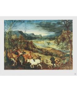 Pieter Brueghel der Ältere, Der Herbst (Die Heimkehr der Herde) (Tiefdruck)