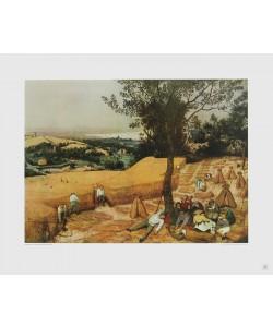 Pieter Brueghel der Ältere, Der Sommer (Die Kornernte) (Tiefdruck)