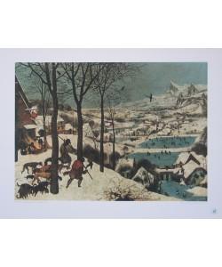 Pieter Brueghel der Ältere, Der Winter (Die Jäger im Schnee) (Kupfertiefdruck)