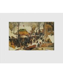Pieter Brueghel der Ältere, Die Anbetung der Könige im Schnee