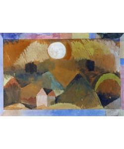 Paul Klee, Landschaft mit Rot mit weißem