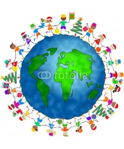 Prawny, global Christmas kids