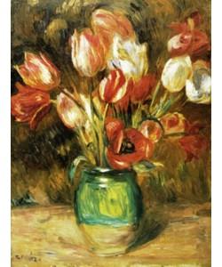 Pierre-Auguste Renoir, Tulips in a Vase