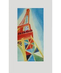 Robert Delaunay, Der Eiffelturm ( auf Bütten-Papier )