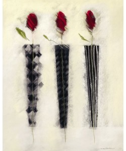 Marilyn Robertson, BLACK AND WHITE/ROSES-TRIPLE