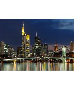 Rolf Fischer, Frankfurt Main Skyline Abend