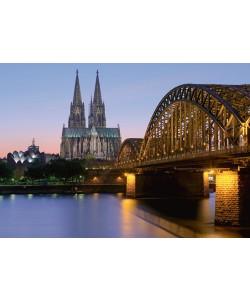 Rolf Fischer, Kölner Dom mit Deutzer Brücke