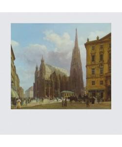 Rudolf Alt, Der Stephansplatz, 1834