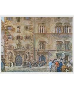 Rudolf Alt, Landhaus mit altem Zeughaus in Graz