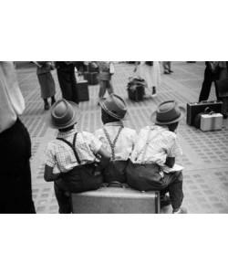 Ruth Orkin  Three Boys on Suitcase