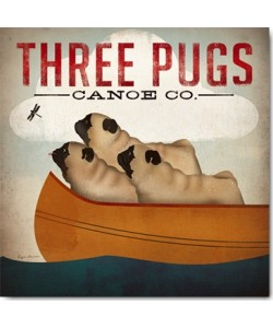 Ryan Fowler, Three Pugs in a Canoe v.3