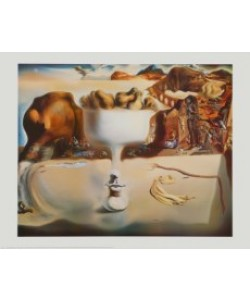 Salvador Dali, Apparition of Face and Fruit Dish on a Beach