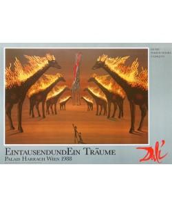 Salvador Dali, Brennende Giraffen - braun