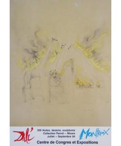 Salvador Dali, Brennende Giraffen gelb (Montreux)