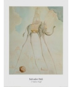 Salvador Dali, L'Élephant Giraffe - 1948