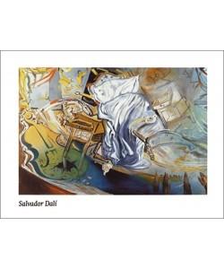 Salvador Dali, Lit et 2 tables de nuit attaquant frocement