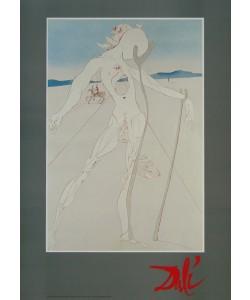 Salvador Dali, Mann auf zwei Holzstöcke gestützt